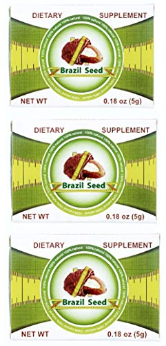 3 Boxes Semilla de Brasil Seed 100% Original Brazilian Natural Weight Loss 90 Day Supply