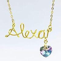 Collar Con Nombre personalizado con alambre chapa de oro 22k - Tutti Joyería- collar de nombre en chapaa de oro- collar de nombre- tu nombre en chapa