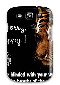 Tpu Case For Galaxy S3 With Happy Tiger Quote