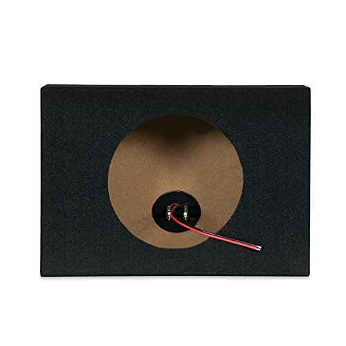 New Single Car Black Subwoofer Box Sealed Automotive Enclosure for 8-Inch Woofer 8S by OnlyFactoryDirect (Image #1)