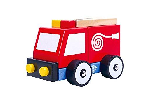 Tooky Toy jouet de bois TKB154 voiture des pompiers plaisir garanti en bas /âge