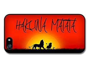 AMAF ? Accessories Hakuna Matata Lion King Sunset Background case for iPhone 5 5S