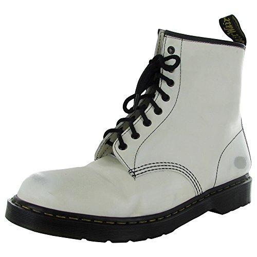 Dr Up Boots Martens Original 1460 Lace Worn Women's White rraRw