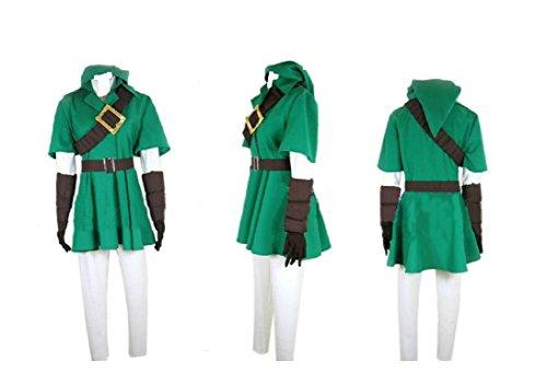 [The Legend of Zelda Twilight Princess LINK cosplay costume cosplay costume] (Princess Zelda Cosplay Costume)