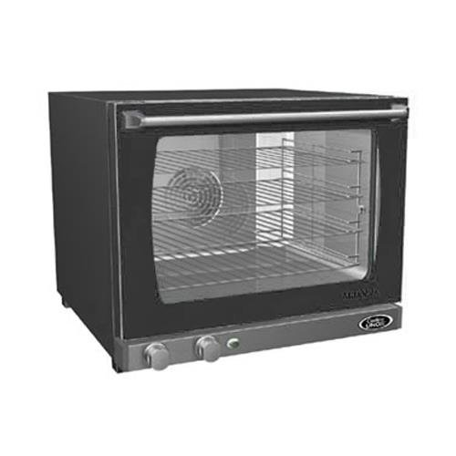 Cadco XAF-133 Half Size Convection Oven with Manual Controls and Humidity, 208-240-Volt/2700-Watt, Stainless/Black by Cadco