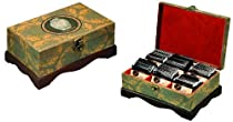 Boston Tea 60-Count Hand Decorated Exotic Wooden Tea Chest, 60 Tea Bag Set