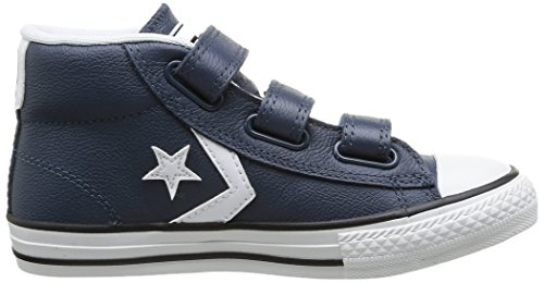 Converse Star Player Junior 3v Leather Mid - Zapatillas Unisex Niños Marine/Blanc 10