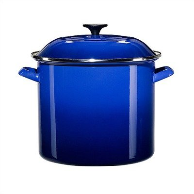 Le Creuset Enamel-on-Steel 12-Quart Covered Stockpot, Cobalt Blue by Le Creuset