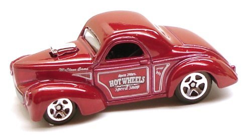 Hot Wheels Metallic Red Custom '41 Willys Coupe with Hot Wheels Speed Shop - #01 of 2010 HW Hot Rods -