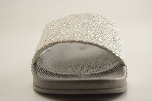 victoria Damen Sandalia Pala Glitter Sneaker Silber (Plata 14)