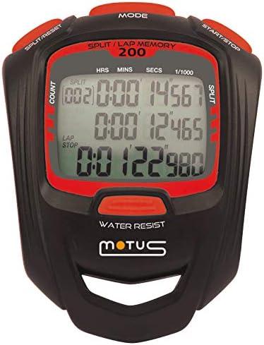 Sportstopwatch met 200 intervaltrainingsinterval en 11000 seconde resolutie