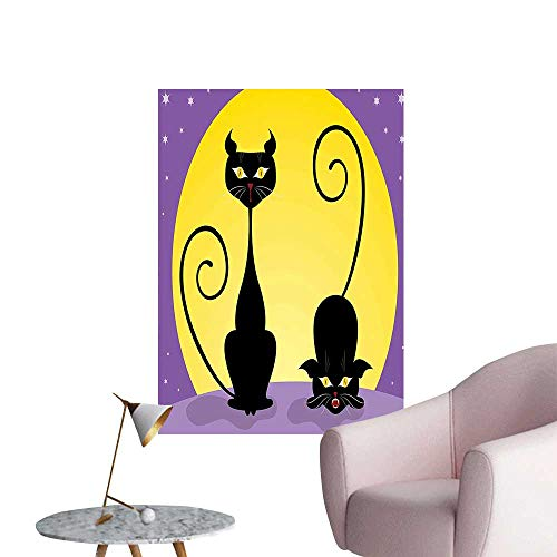 Wall Stickers for Living Room Two Black Kitties