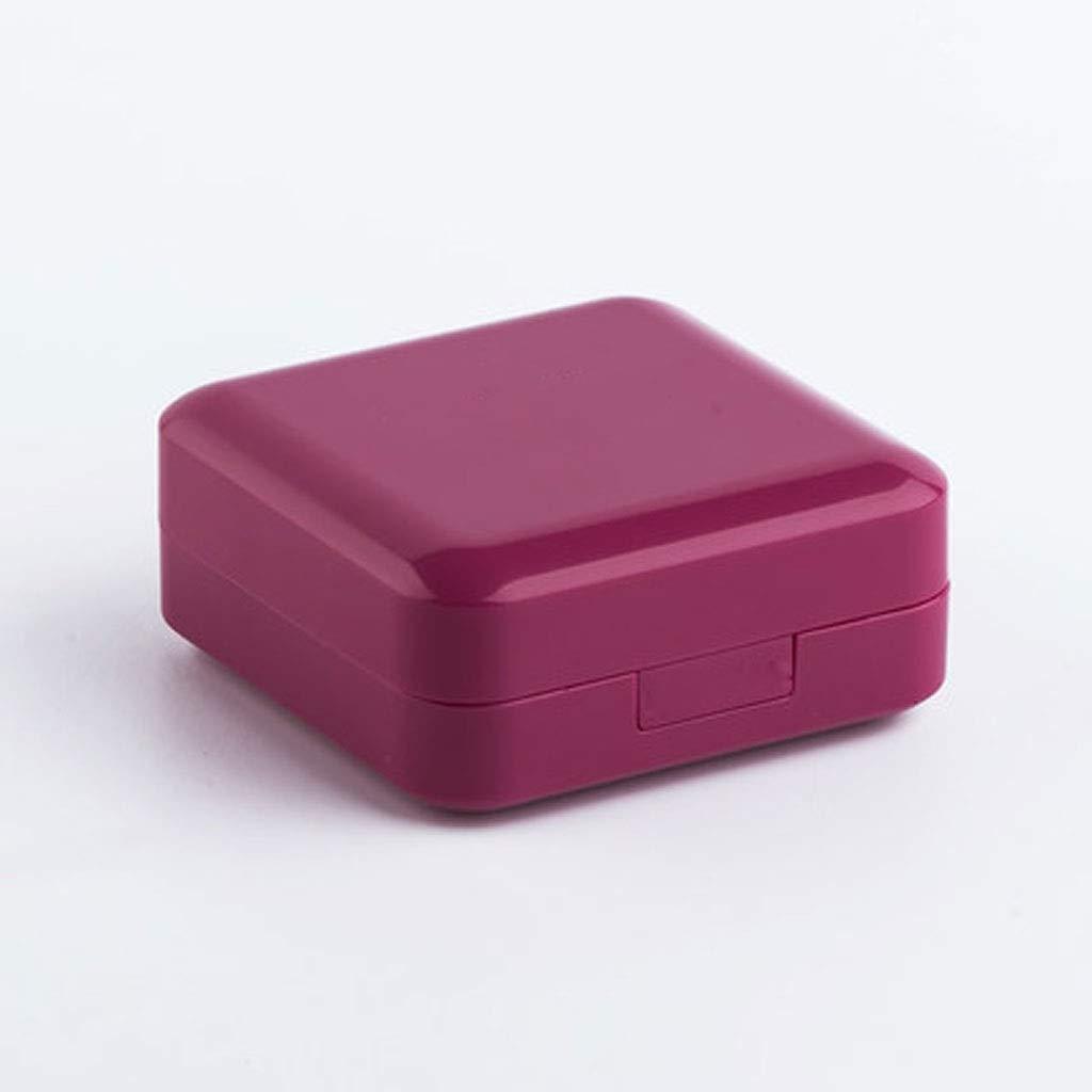 Color : Purple red Petite Bo/îte /À M/édicaments Bo/îtes De Distribution De M/édicaments Mini-coupe-m/édicaments Portable Kit Portable Dune Semaine Scellant Et R/ésistant /À Lhumidit/é