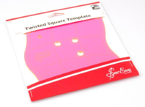 Sew Easy ERGG03.PNK | Pink Acrylic Twisted Square Template | 16½cm (6½in) by Sew Easy