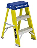 Louisville Ladder FS2002 2 StepLadder, 250-Pound Duty Rating Fiberglass Ladder, 2-Feet, Yellow Stepladder