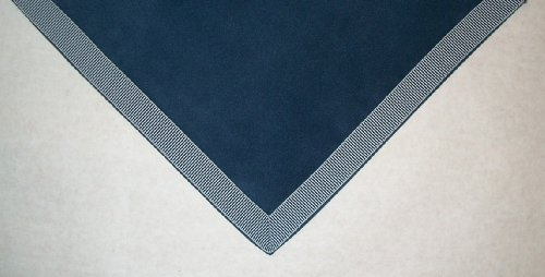 "Sanders Classics 44"" Square Navy Card (Bridge) Table Cover"