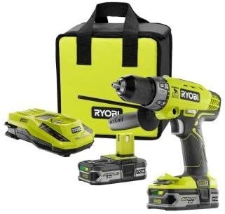 Lithium-Ion Cordless Drill//Driver And Impact Driver Combo Ah Ryobi 18-Volt ONE
