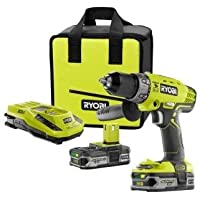 Ryobi 18-volt One Lithium-ion Cordless Hammer Drill/driver Combo Kit P1812 by Ryobi