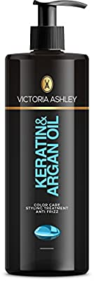 Victoria Ashley Argan Oil & Keratin Leave in Conditioner Treatment for Colored, Processed, Damaged Hair