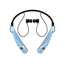LG New Tone Pro Bluetooth Headset in Powder Blue, Retail Packaging