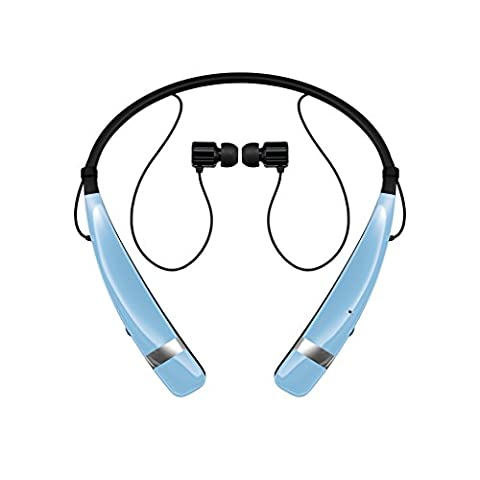 LG Electronics Tone Pro HBS-760 Bluetooth Wireless Stereo Headset - Retail Packaging - Blue (Lg Bluetooth Headset Tone Pro)