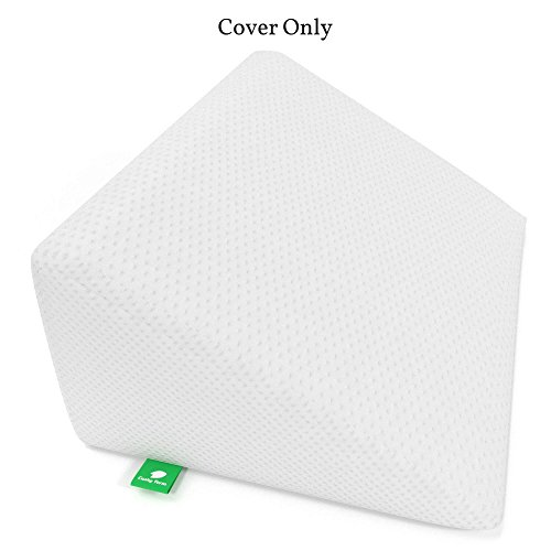 Bed Replacement Cover Wedge ([Replacement Cover] Bed Wedge Pillow Replacement Cover - Fits Cushy Form 12 inch Wedge Pillow - Hypoallergenic, Machine Washable Case (Replacement Cover ONLY 12