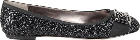Isola Britt Ii Dames Platte Schoenen Zwarte Glitter