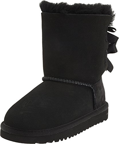 UGG Girls Bailey Bow Pull on Boot (Toddler/Little Kid/Big Kid), Black, 7 M US Toddler