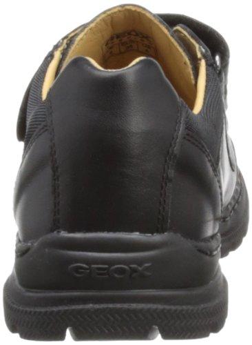 Geox J William a, Zapatos de Cordones Derby Para Niños Negro (Black Leather)