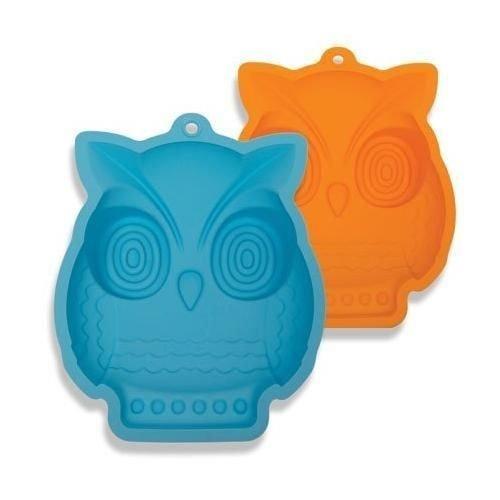 Price comparison product image Nceonshop(TM) DCI Shape and Bake Owl Cake Mold, Orange/Blue New