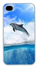Dolphin Wave3 PC Case Cover for iPhone 4 and iPhone 4S White