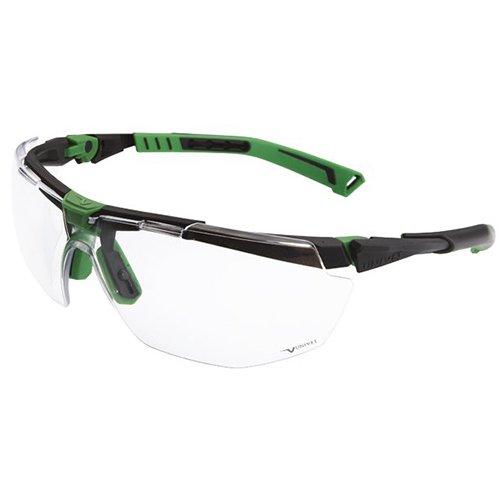 UNIVET 5X1.03.00.00 Bü gelbrille 5X1 mit klarem Glas in metallgrau/grü n