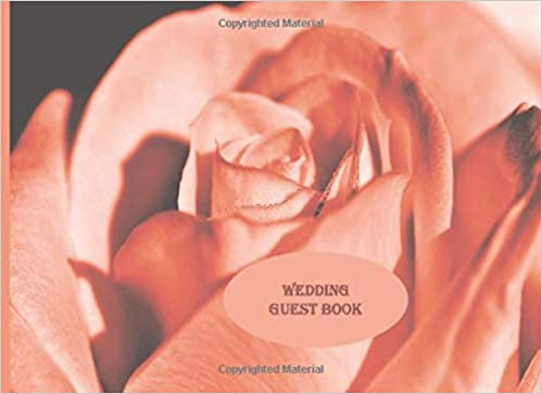 Wedding Guest Book A Peach Rose Keepsake Guest Book For The