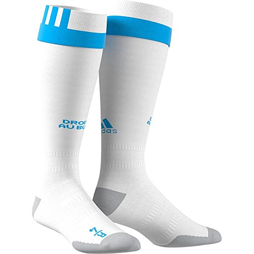fan products of 2017-2018 Olympique Marseille Adidas Home Football Socks (White)