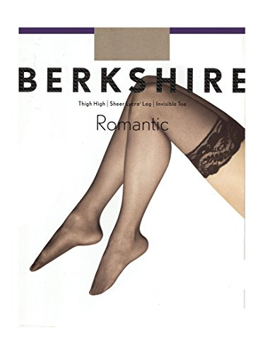 Berkshire Women's Romantic Lace Top Thigh High 1363, Nude, A-B