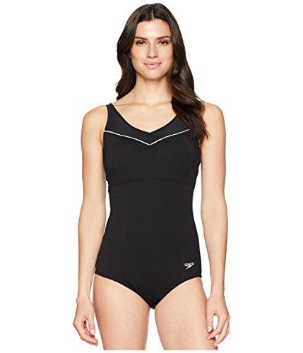 Speedo Women's Empire Women's Swimsuit, Speedo Black, Size 10
