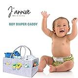Baby Diaper Caddy Organizer Blue | Nursery Diaper