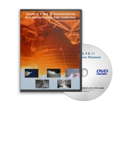 Apollo 8, 9 and 11 Documentary Film Collection DVD - Early Apollo Missions Leading up to the First Lunar Moon Landing