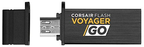 Corsair Flash Voyager GO - 128GB 128GB USB 3.0 (3.1 Gen 1) Capacity Negro Unidad Flash USB - Memoria USB (128 GB, USB 3.0 (3.1 Gen 1), USB Type-A Connector, ...