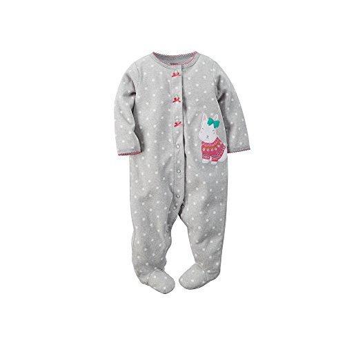 Carter's Baby Girls Microfleece Snap-Up Sleep & Play Polk...