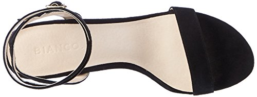 Bianco Party Riemchen Sandale - Tira de tobillo Mujer Schwarz (Black)