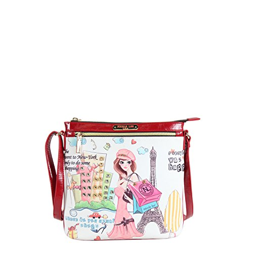 nicole-lee-print-cross-body-bag-shopping-girl-one-size