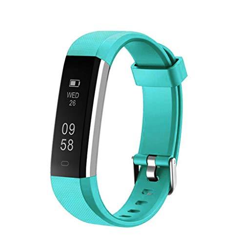 Insaneness Halloween Gift-ID115U Smart Watch Bracelet Wristband Pedometer Sport Fitness Tracker (Light blue) -