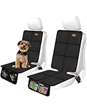 Car Seat Protectors for Child Car Seat, 2 Pack Large Car Seat Protector with Thickest Padding, Waterproof 600D Fabric Car Seat Pad, Baby Car Seat Protector for SUV Sedan Leather Seats