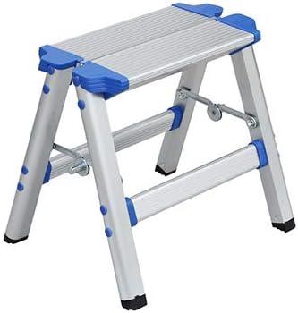 Aleación de aluminio hogar plegable escalera taburete escalera silla de doble uso portable al aire libre creativo Sketch pesca Taburete PONY taburete: Amazon.es: Bricolaje y herramientas