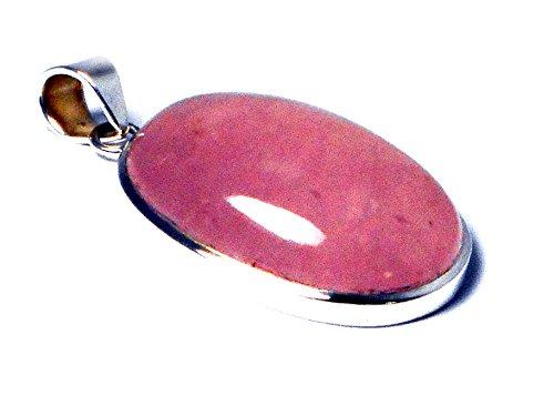 QUARTZ ROSE ovale en argent Sterling 925-Pendentif (RQPT1007151)