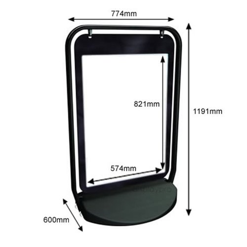 Free Shipping! A1 Swinger 4000 Pavement Sign Poster frame Holder Display Stand Outdoor Caf/' A-Board