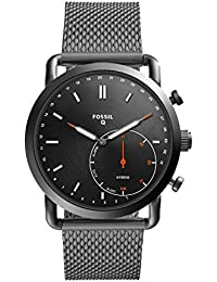 Q Men's Commuter Stainless Steel Mesh Hybrid Smartwatch, Color: Grey (Model: FTW1161)