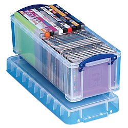 Really Useful Box(R) Plastic Storage Box, 6.5 liters, 17 1/2in. x 7in. x 6 1/4in, Clear