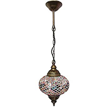 Ceiling pendant fixtures mosaic lamps turkish lamps hanging pendant lights aloadofball Image collections